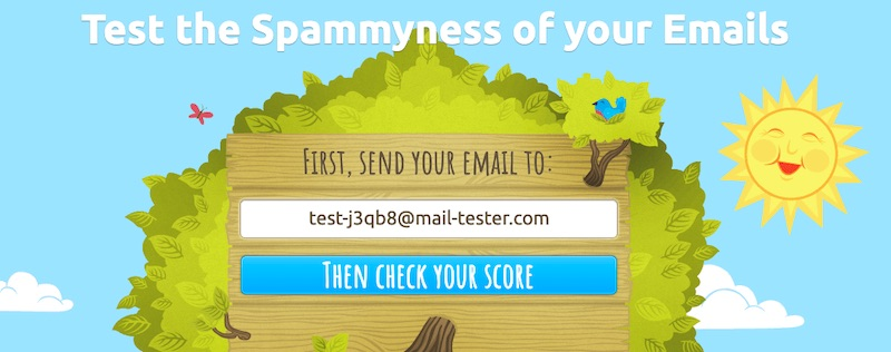 A common concern of email marketers is the delivery rate, whether emails reach subscribers' inboxes. Mail Tester is a free service that can detect potential delivery problems — before an email is deployed.
