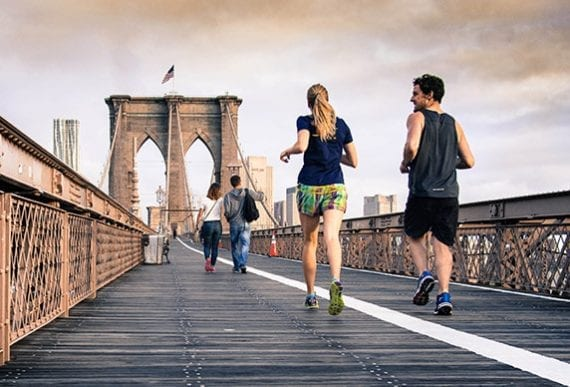 Running could be the topic of articles about health, fashion, or even meeting folks. <em>Photo: Curtis MacNewton.</em>
