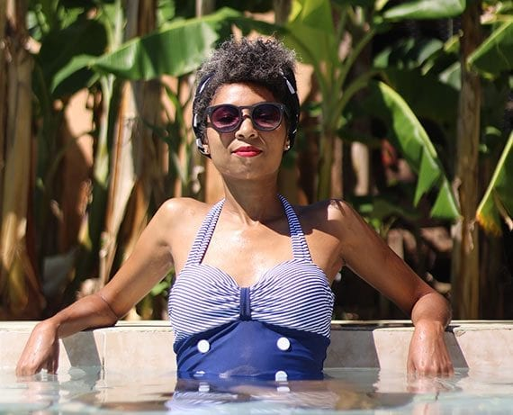 Personalize a new product launch. If you are releasing a new swimsuit line, interview the buyer who selected it. <em>Photo: Ayeisa Vargas.</em>