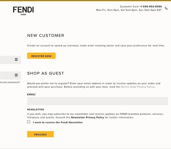 Fendi requires an email address even before shoppers can see their $850 t-shirt in the shopping bag.
