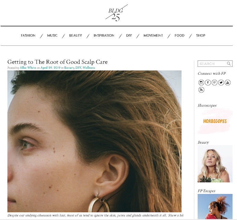 This blog post on FreePeople.com offers helpful instruction on scalp care, for free.