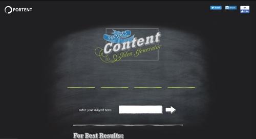 Portent's Content Generator