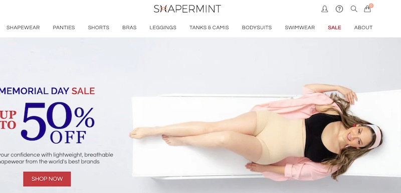 Shapermint is a niche apparel site for females, having launched in 2018. It now ranks on Google for roughly 17,600 keywords with just 371 linking domains.