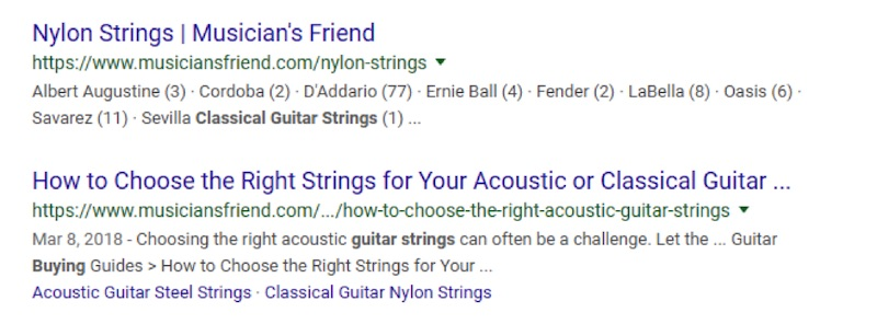 """The content post from Musician's Friend of """"How to Choose to Right Strings for Your Acoustic or Classical Guitar"""" is compelling."""