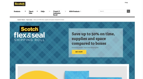 Scotch Flex & Seal Shipping Roll