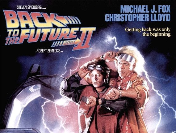 """In """"Back to the Future Part II,"""" Marty McFly time travels from 1985 to October 21, 2015."""
