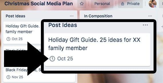 Your posts should have target publication dates.