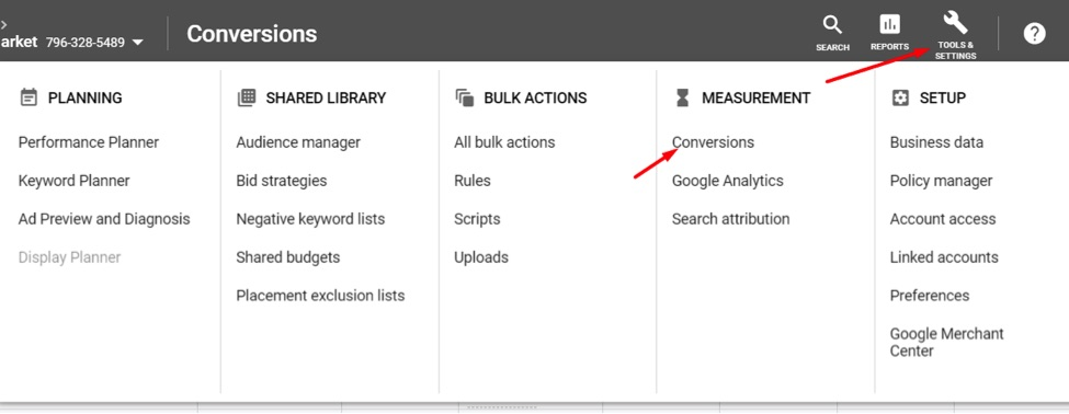 Identify the attribution model set up in Google Ads for conversions that use that conversion pixel at Tools & Settings > Conversions.
