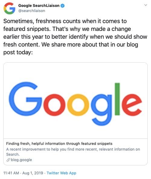 Google SearchLiaison @searchliaison.