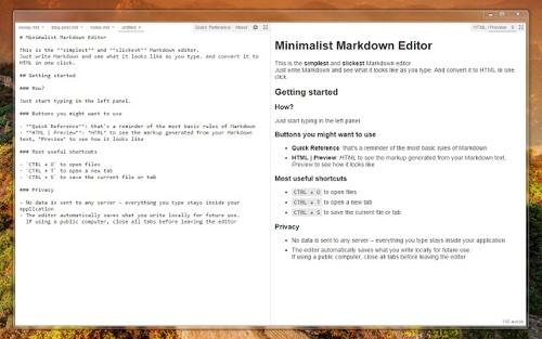 Minimalist Markdown Editor