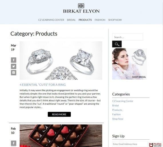 exemple de blog de commerce électronique