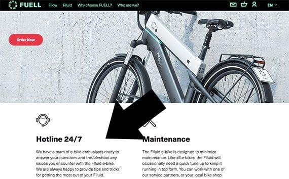 Fuell sells its electric bikes online and offers around-the-clock support.