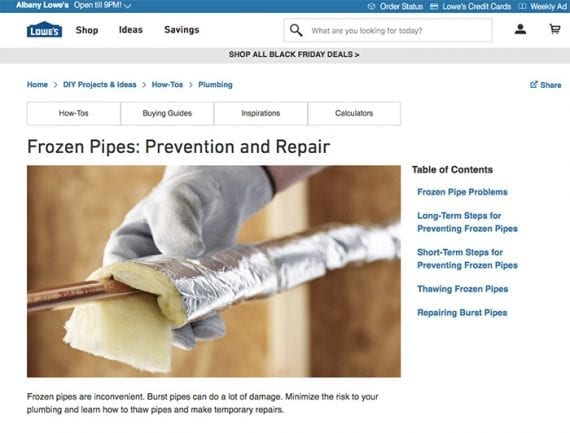 Lowe's has many practical how-to articles on its blog.