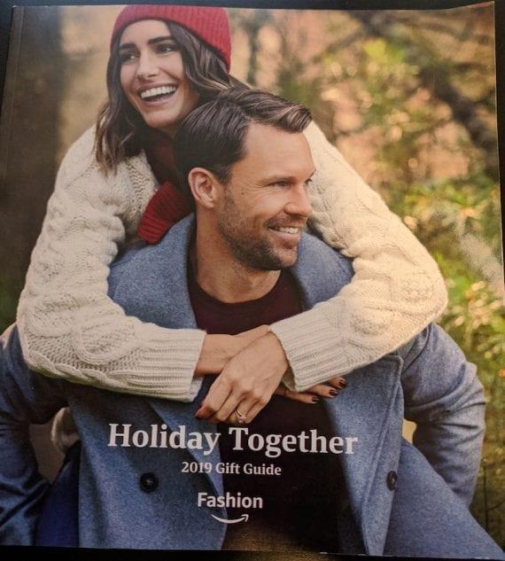 "Amazon's 2019 printed gift catalog is titled ""Holiday Together."""