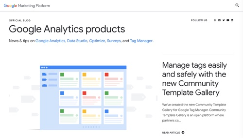 Google Analytics Products blog.