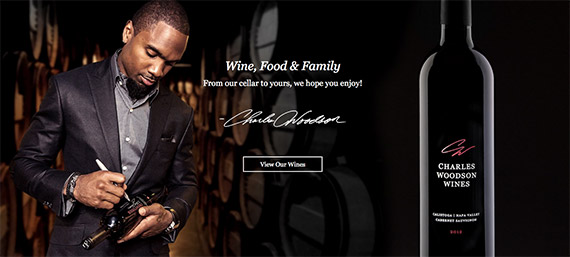 Charles Woodson's wine company is an example of how an online company can link their products to sporting events.