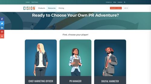 Cision's Choose Your Own PR Adventure.