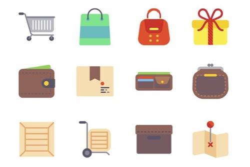 Free Flat eCommerce Icon Set