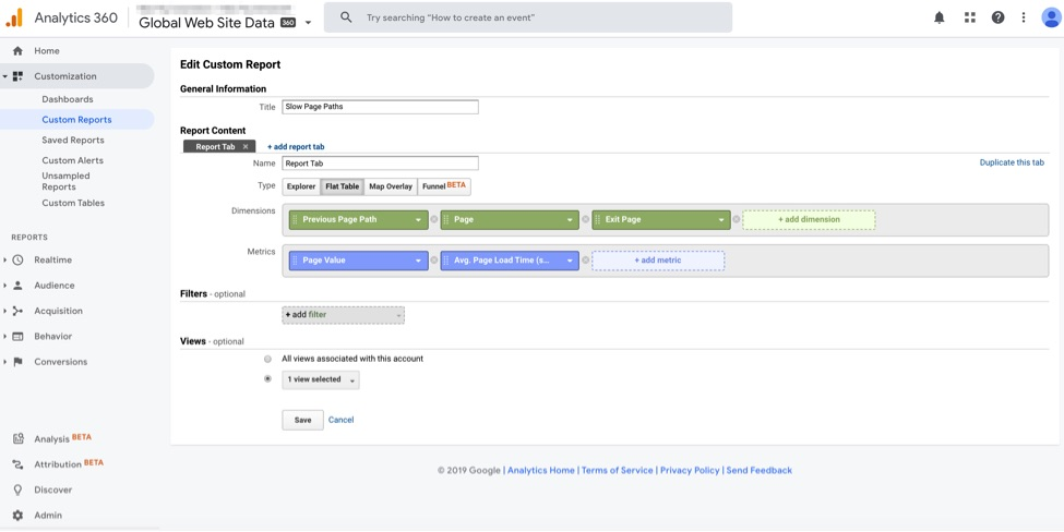 Create the custom report at Customization > Custom Reports > New Custom Report.