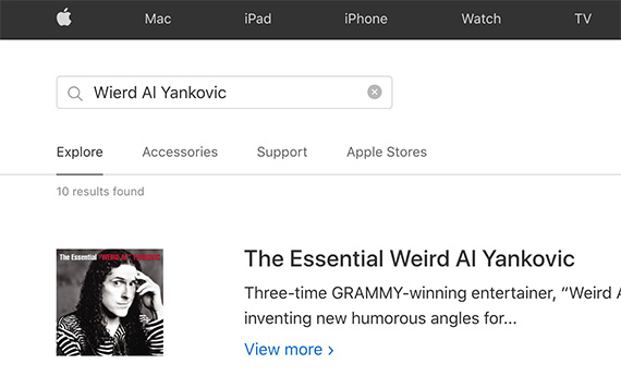 "The 2020 misspelled term test, included more than 60 queries. These queries differed by site. Only on Apple.com, for example, did the author test ""Wierd Al Yankovic."""