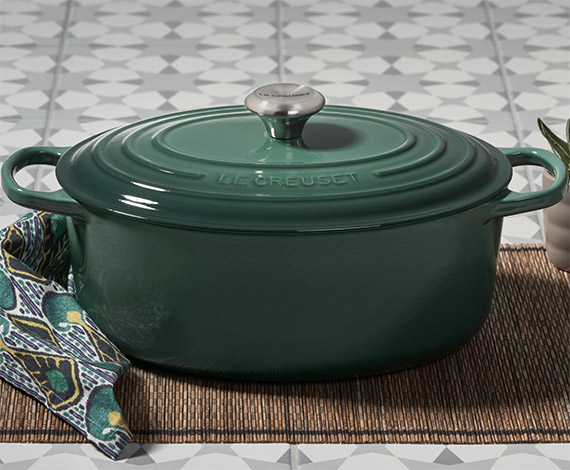 If you were selling used cookware online, your site would feature well-known brands, such as Le Creuset. <em>Source: Le Creuset.</em>
