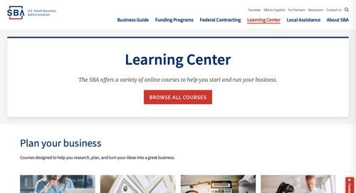 SBA Learning Center