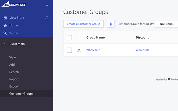 Customer groups may include wholesale buyers or perhaps customers associated with a specific organization.