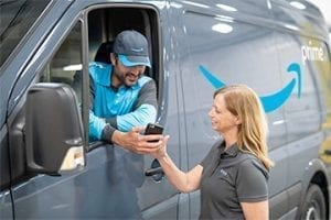 Amazon delivery vehicle