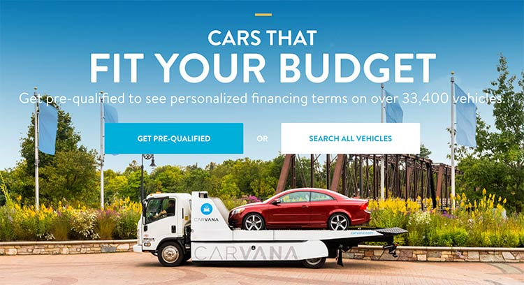 Carvana will deliver a used car the next day in about 160 U.S. markets.