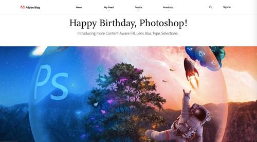 """Adobe blog: """"Happy Birthday, Photoshop!"""""""