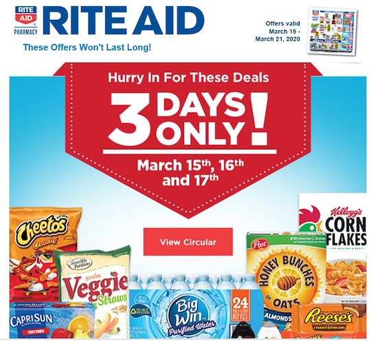 Rite Aid co-markets with leading consumer goods companies, such as Cheetos, Capri Sun, and others.