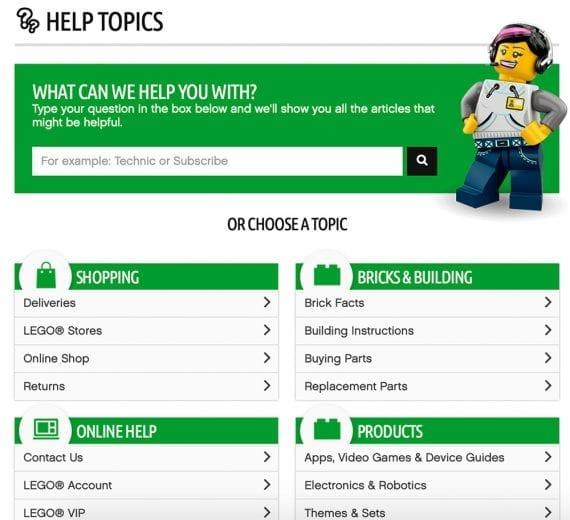 LEGO FAQ page