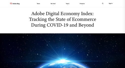 Adobe Blog - Digital Economy Index