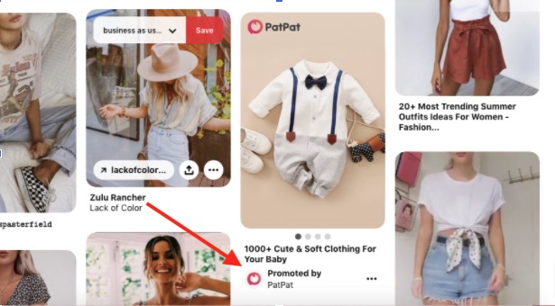 PatPat, a retailer, purchases promoted pins to send shoppers to its website.