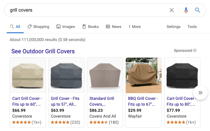 Paid shopping lists are now displayed on Google's main search