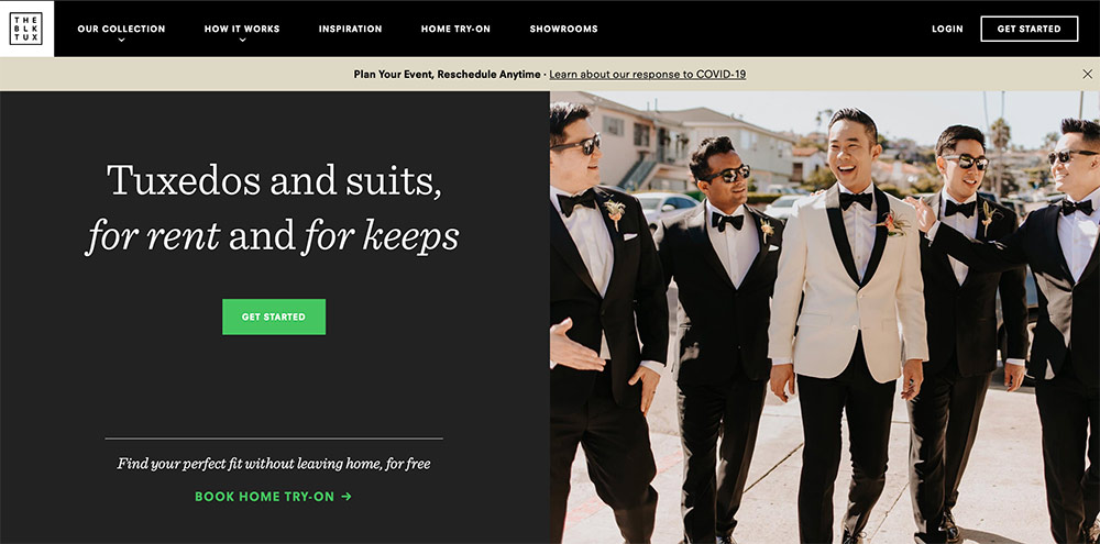 Black Tux website