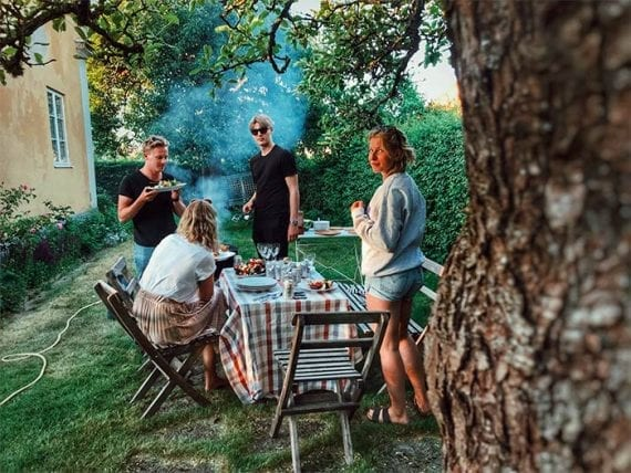 Some families are reluctant to travel this summer and are receptive to backyard vacation suggestions. <em>Photo: Johanna Dahlberg.</em>