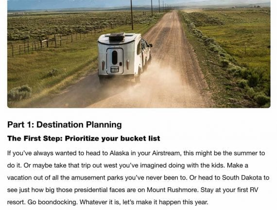 The Airstream blog's audience is made up of folks who enjoy recreational vehicles.
