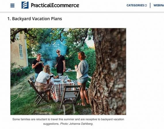 If your business sells products for barbeque, a video about planning a backyard vacation that includes grilling makes sense for your audience.