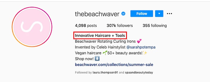 "The handle @thebeachwaver does not include ""tool."" But the profile does include it:"