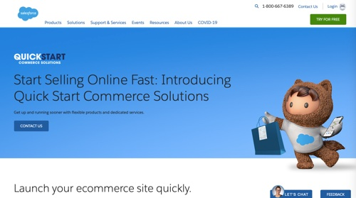 Salesforce's Quick Start Commerce Solutions
