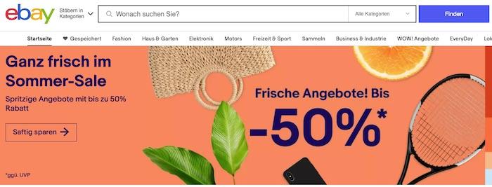 eBay.de has 25 percent of total marketplace visits in Germany and 22 percent of marketplace sales.