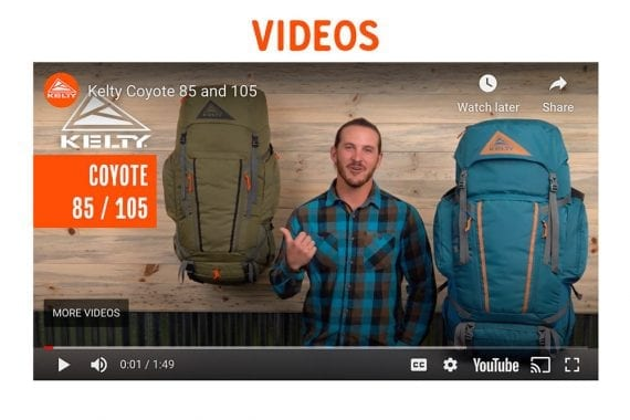 The product description video adds much to the page and is likely to be a favorite for shoppers.