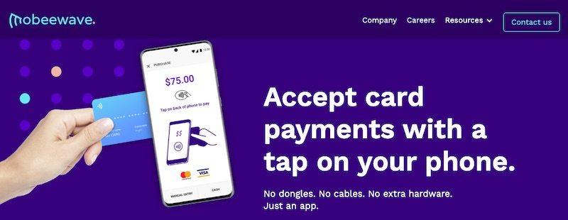 Mobeewave enables smartphones to be payment-accepting devices without additional hardware components.