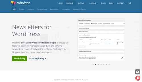 Tribulant Software: Newsletters for WordPress