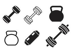 Garage gym icons