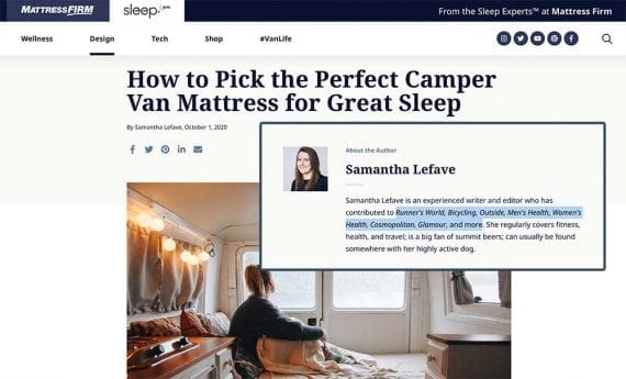 Screenshot of Sleep.com.