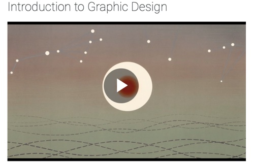 "Screenshot of ""introduction to graphic design"" course"