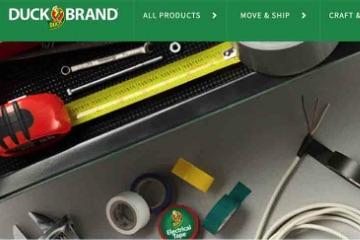 Screenshot from Duck Brand website