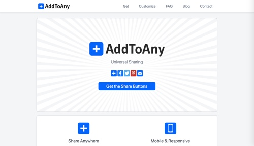 Home page of AddToAny